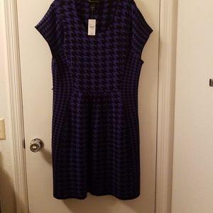 Lane Bryant houndstooth dress
